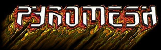 The original Pyromesh logo... very 80s metal.
